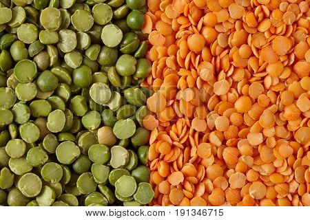 Green Split Peas And Red Lentils