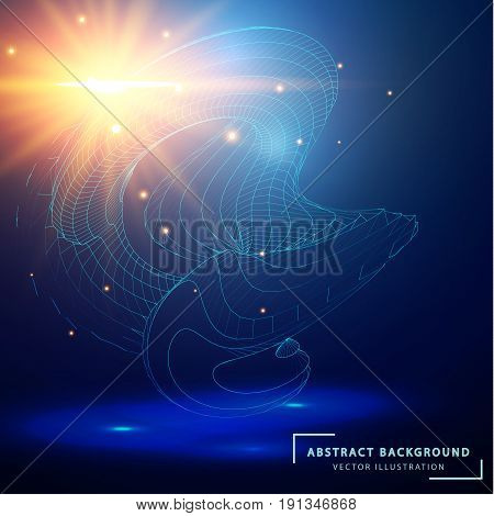 Technology Abstract Background. Futuristic Technological Style.