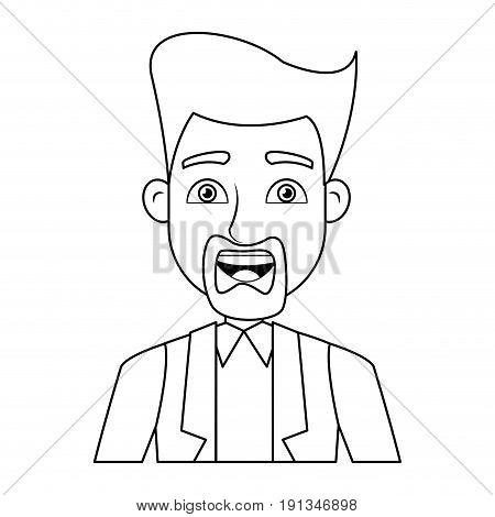 business man icon portrait employee or entrepreneur person vector illustration