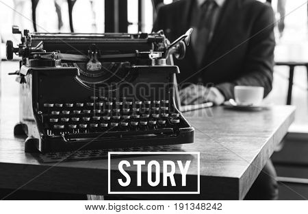 Typewriter Publish Story Telling Content Article