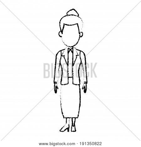 cartoon business woman character female employee vector illustration