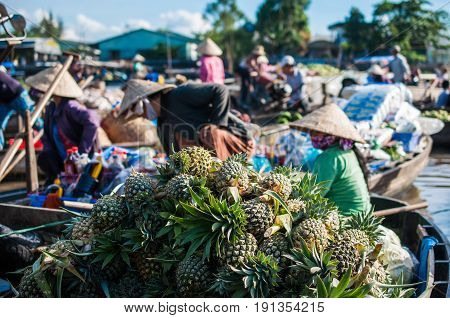 Phong Dien Floating Market in south Vietnam