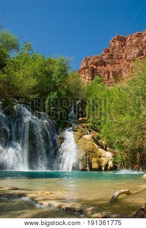 Navajo Falls Waterfall in Havasu Canyon Arizona