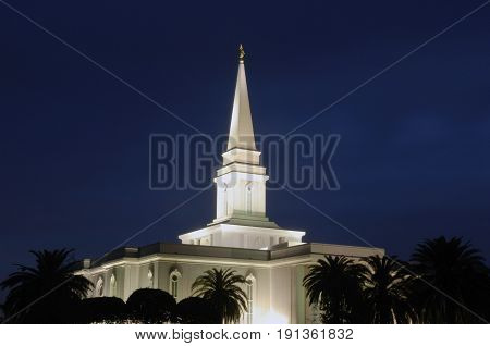 Orlando Temple of the Church of Jesus Christ of Latter-day Saints (also called the Mormons).