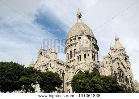 Basilica Sacre Coeur on Montmartre Paris France