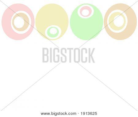 Retro Pastel Circles Background