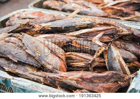 Tuna dry fish for sale at Fish market in Male,Maldives
