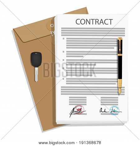 Signed Business Contract