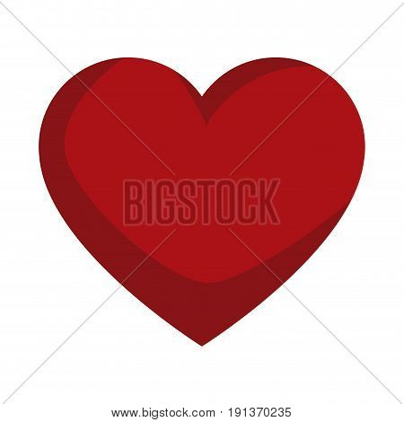 red love heart gift romance icon vector illustration