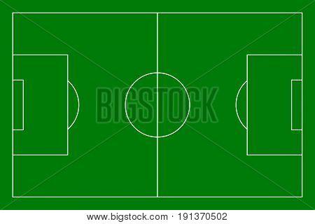 Footbal soccer field. sport background. vector illustration