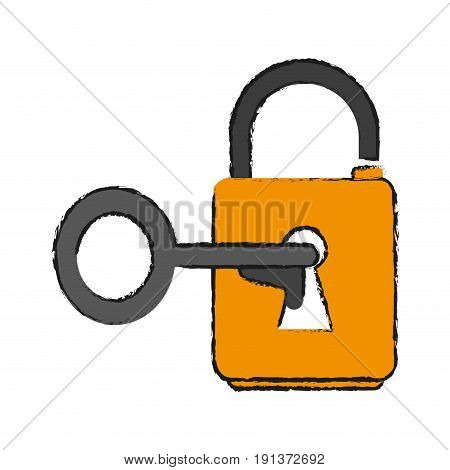 key lock open icon vector illustration design graphic draw
