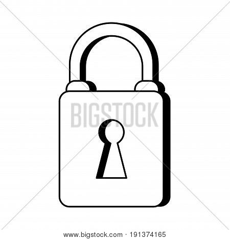 Locked padlock accessory icon vector illustration design graphic silhouette