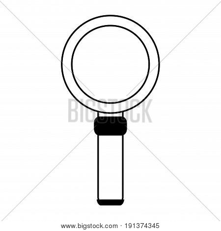 Magnifying glass looking for objects icon vector illustration design silhouette