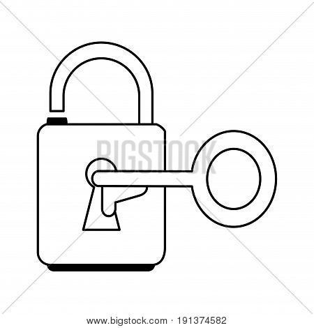 unlocked padlock accessory icon vector illustration design graphic silhouette