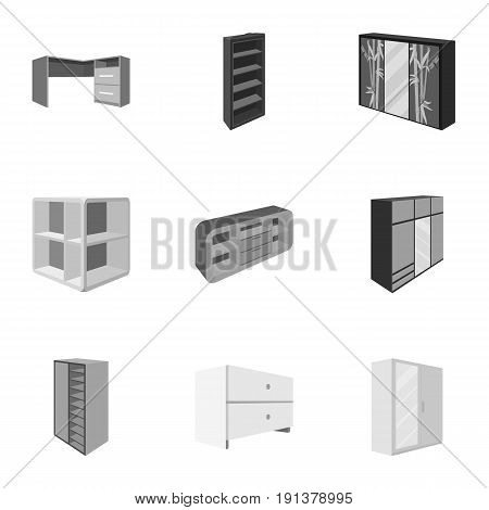 The set of images on the theme of sleep and rest. Different beds for every taste and color.Bed icon in set collection on monochrome style vector symbol stock web illustration.
