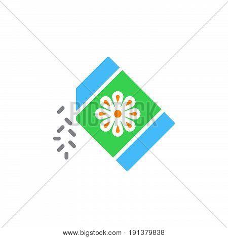 Seeds pack icon vector filled flat sign solid colorful pictogram. Symbol logo illustration