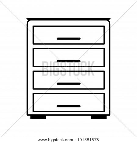 archive drawers office supplies related icon image vector illustration design  black line