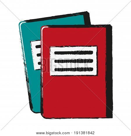 notebook with page marker icon image vector illustration design  sketch style