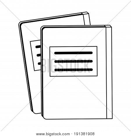 notebook with page marker icon image vector illustration design  black line