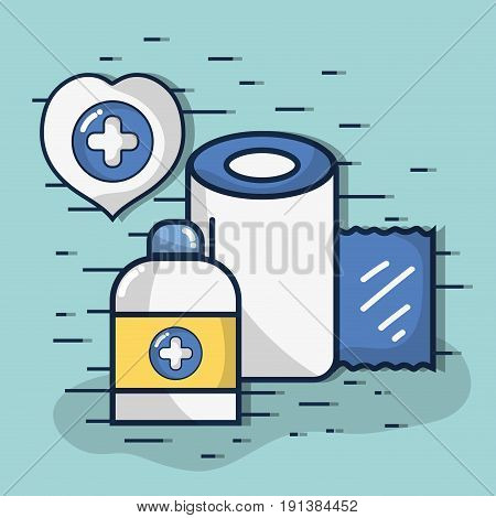medical element to protect the people vector illustration
