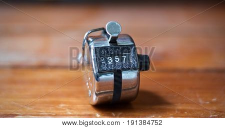 Hand Held Tally Metal 4 Digit Counter