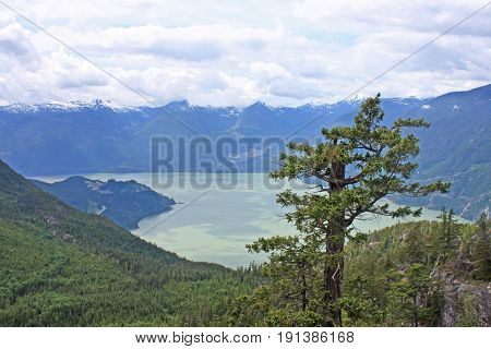 Howe Sound and Coastal Mountains in British Columbia