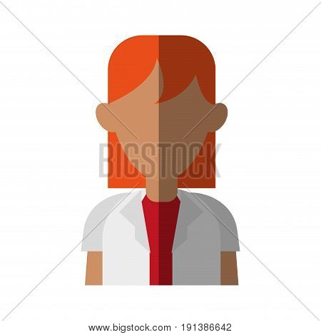 faceless woman with medium length hair  icon image vector illustration design