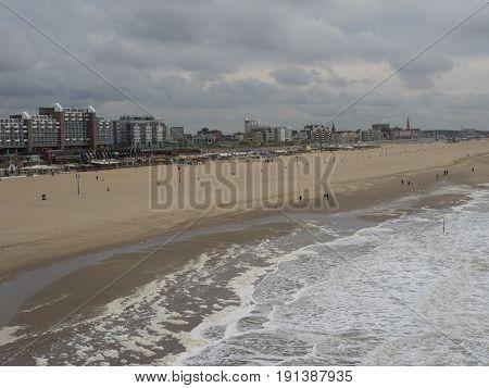 the City and the beach of scheveningen