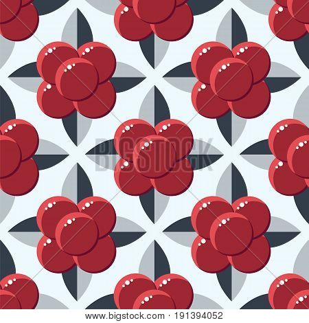 vector illustration, seamless pattern, backgrounds, stone bramble, wild forest berries, dark red and gray