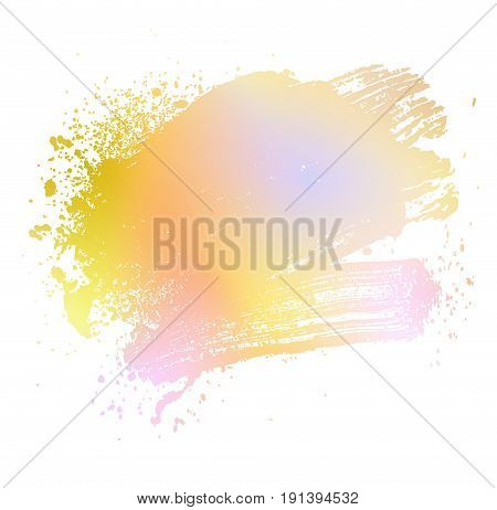 smudge and smear a colored brush on a white background illustration clip-art