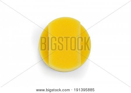 Close-up of scouring pads on white background