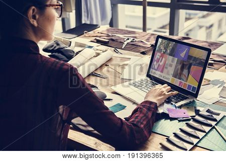 Fashion Designers Computer Research Concept
