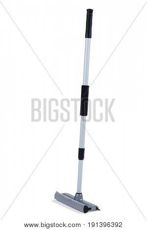 Floor squeegee mop on white background