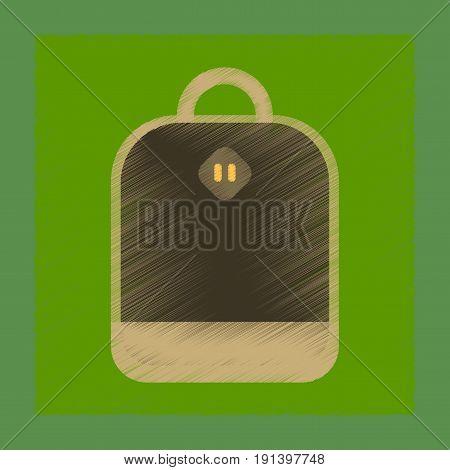 flat shading style icon of school bag