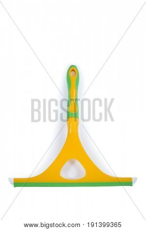 Squeegee for cleaning window glass on white background