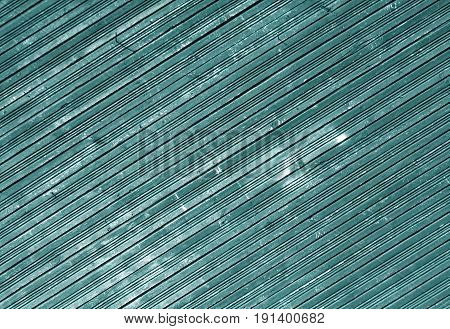 Cyan Color Weathered Wooden Wall Pattern.