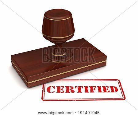 Certified Stamp Concept  3D Illustration