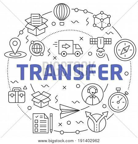 Linear illustration for presentations in the round transfer