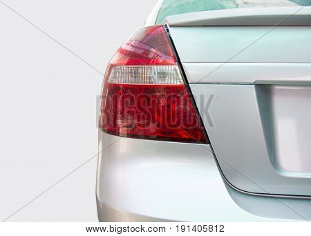 Closeup of a taillight on a modern car
