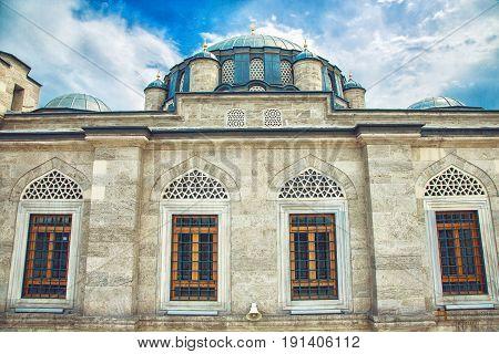 Detail of the Sokollu Mehmet Pasha Mosque, an Ottoman mosque located in the Kadirga neighborhood of the Fatih district
