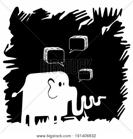 vector elephant animal trunk illustration mammal wild cute wildlife design fun