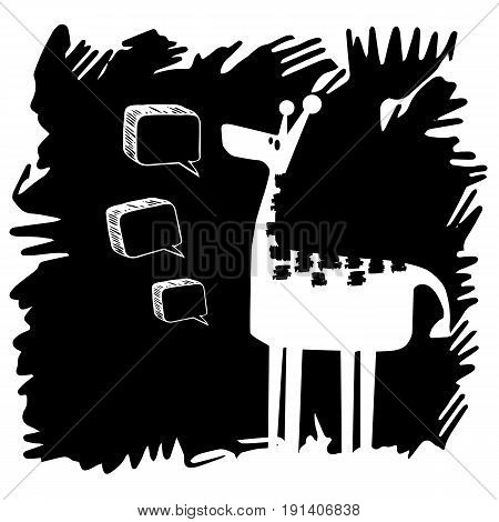 animal giraffe vector africa illustration safari mammal cute african cartoon