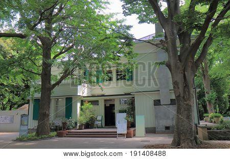 Historical Ehrismann Residence in Yokohama Japan. Ehrismann Residence was built in 1927 in Yamate foreign residents area.