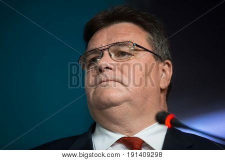 Minister Of Foreign Affairs Of Lithuania Linas Linkevicius