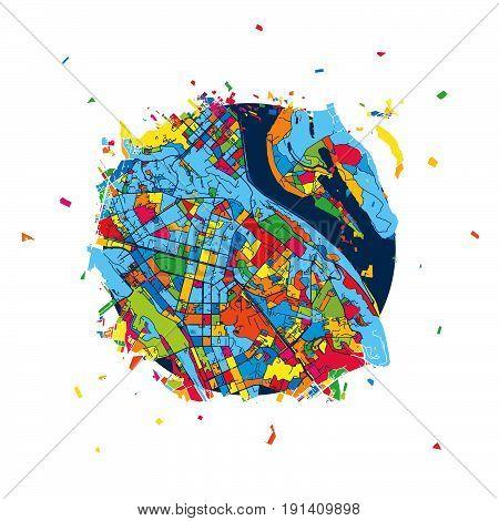 Kyiv, Ukraine, Creative Vector Map