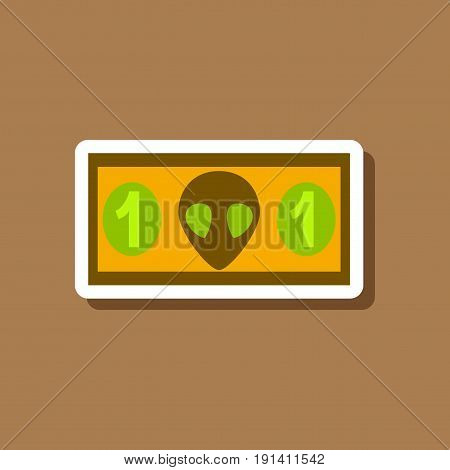 paper sticker on stylish background currency cash