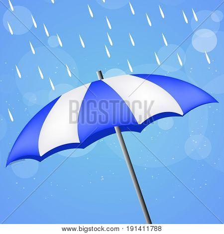 illustration of umbrella with on monsoon season