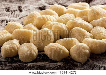 Uncooked Italian Semolina Dumplings