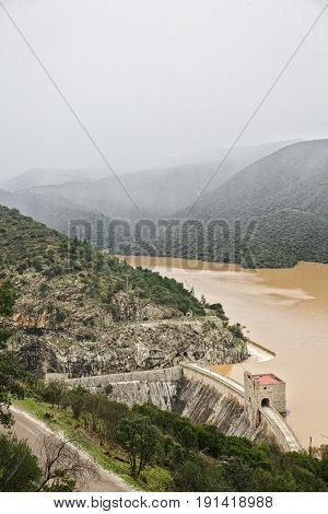 Spillway Of The Dam Of The Jandula, Jaen Province, Spain