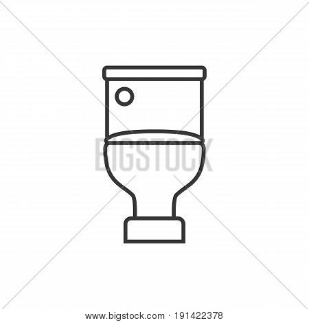 flush toilet vector, simple outline icon, flush toilet symbol
